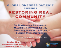Spiritual, Social Justice, Community, Social Activism, Telesummit, Panel, Global Oneness Day